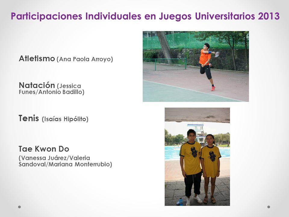 Participaciones Individuales en Juegos Universitarios 2013