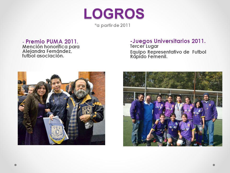 LOGROS -Juegos Universitarios 2011. Tercer Lugar
