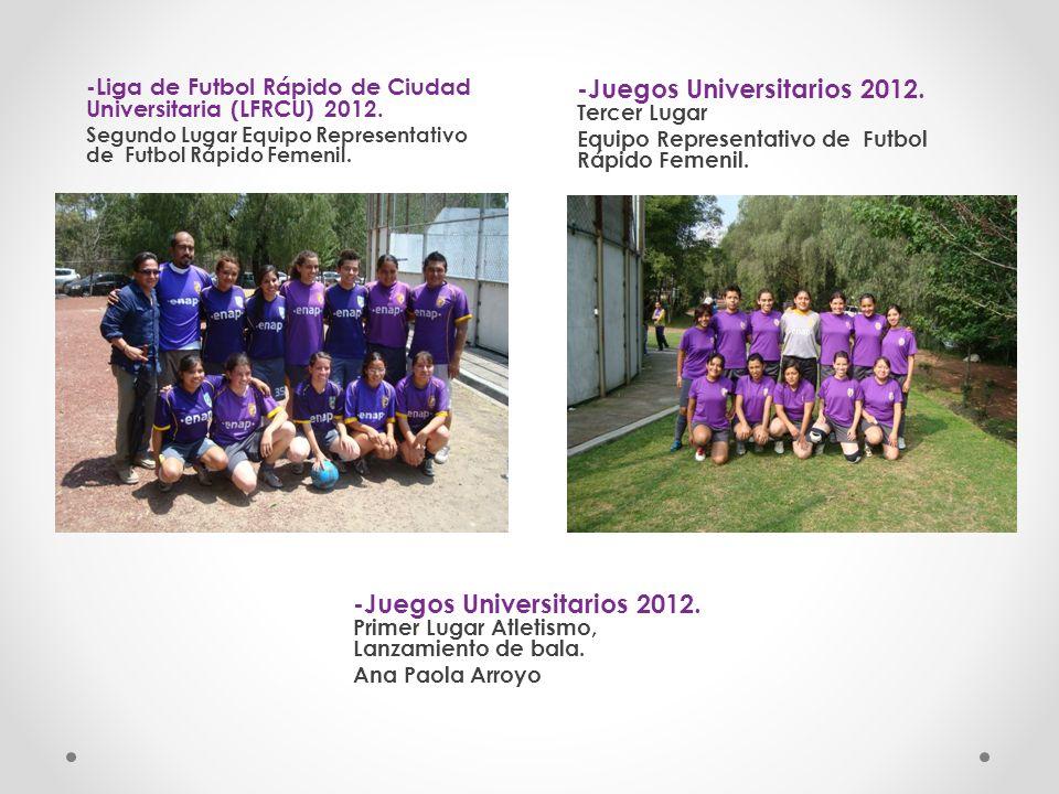 -Juegos Universitarios 2012. Tercer Lugar