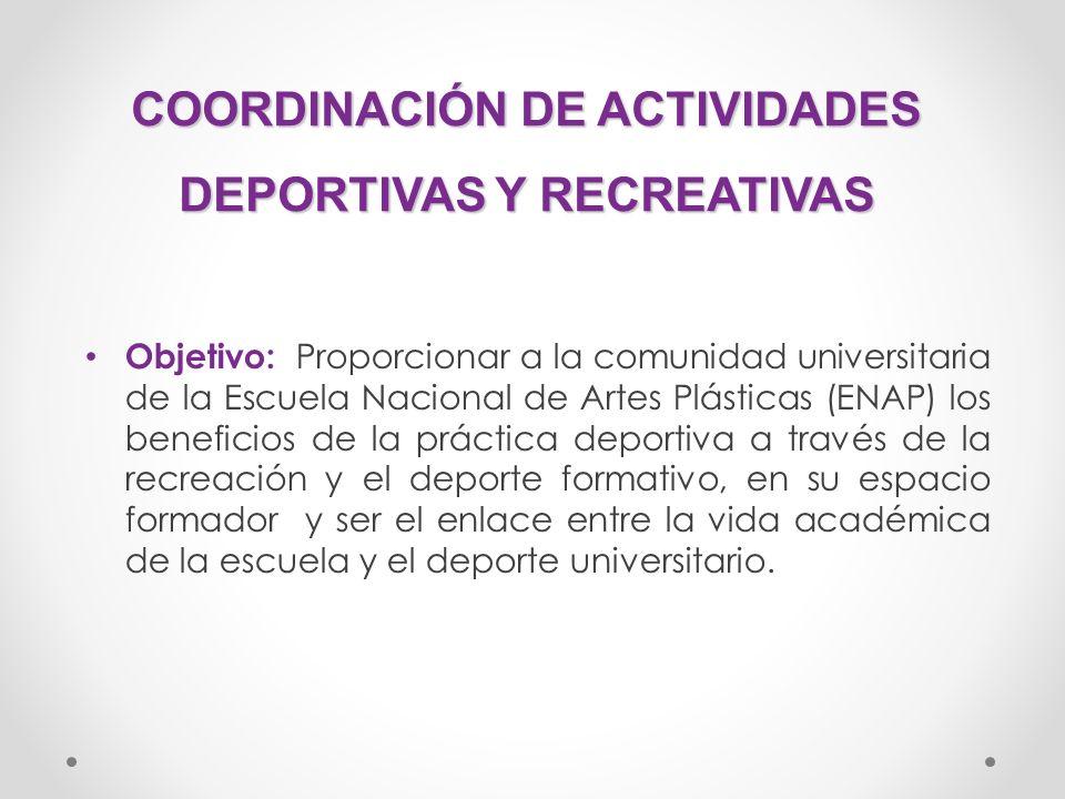 COORDINACIÓN DE ACTIVIDADES DEPORTIVAS Y RECREATIVAS