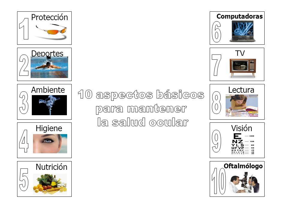1 6 2 7 3 8 4 9 5 10 Protección Deportes TV Ambiente Lectura