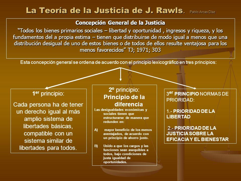 La Teoría de la Justicia de J. Rawls. Pablo Arcas Díaz
