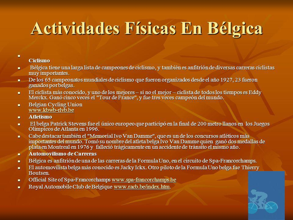 Actividades Físicas En Bélgica