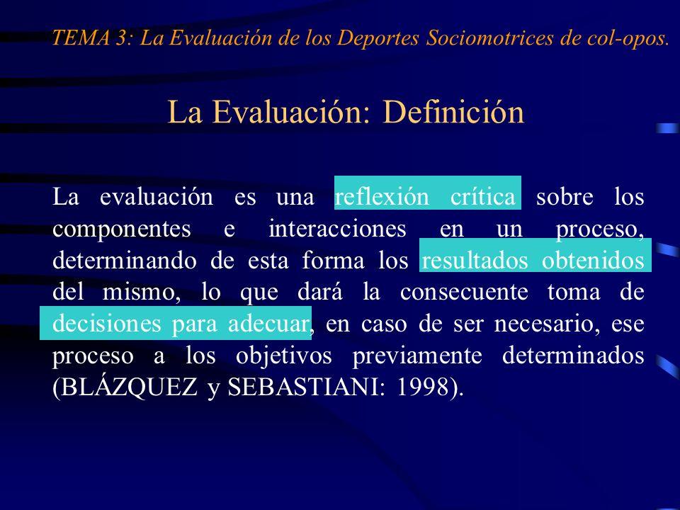 La Evaluación: Definición