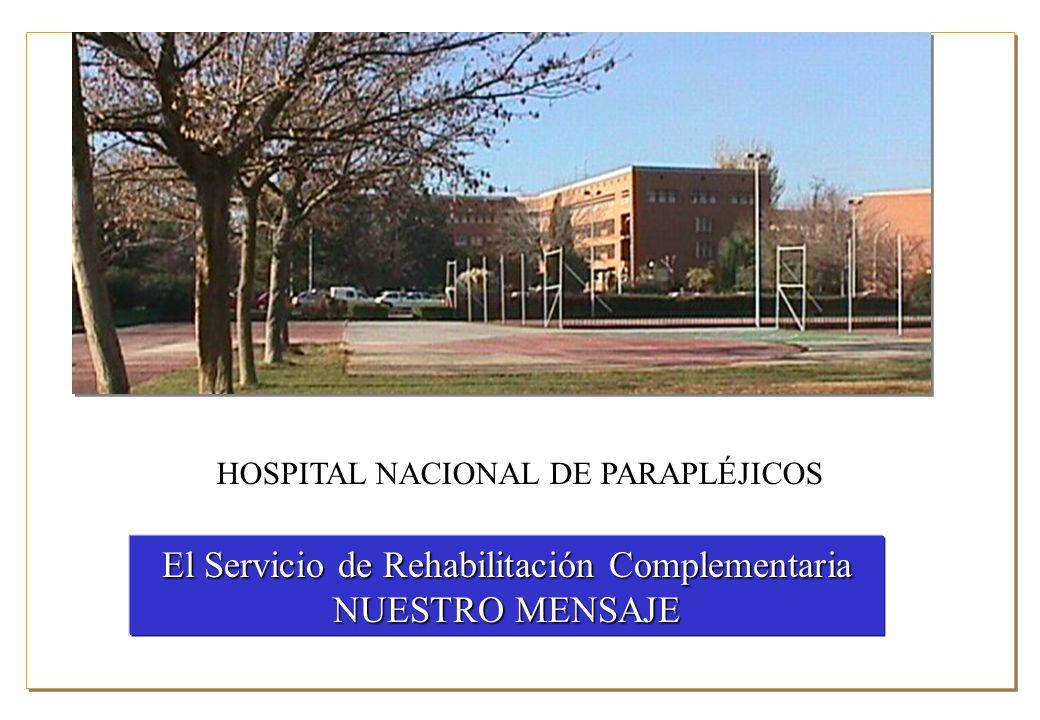 El Servicio de Rehabilitación Complementaria NUESTRO MENSAJE