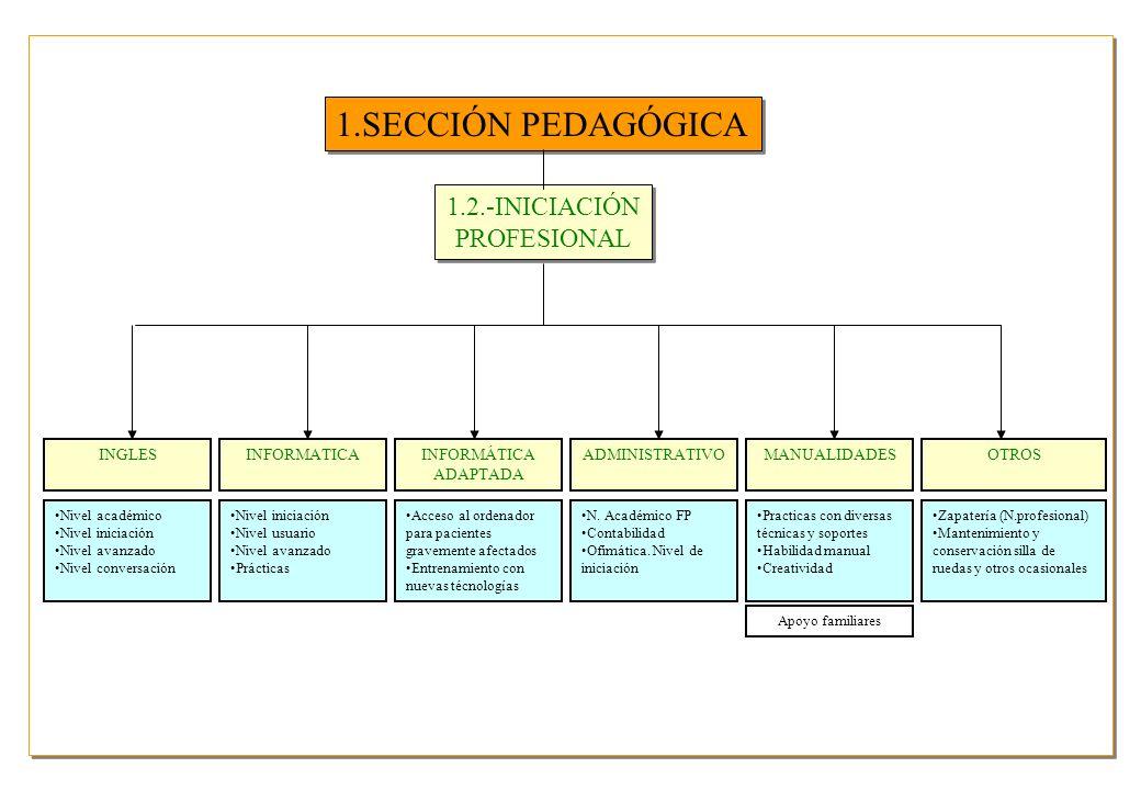 1.SECCIÓN PEDAGÓGICA 1.2.-INICIACIÓN PROFESIONAL INGLES INFORMATICA