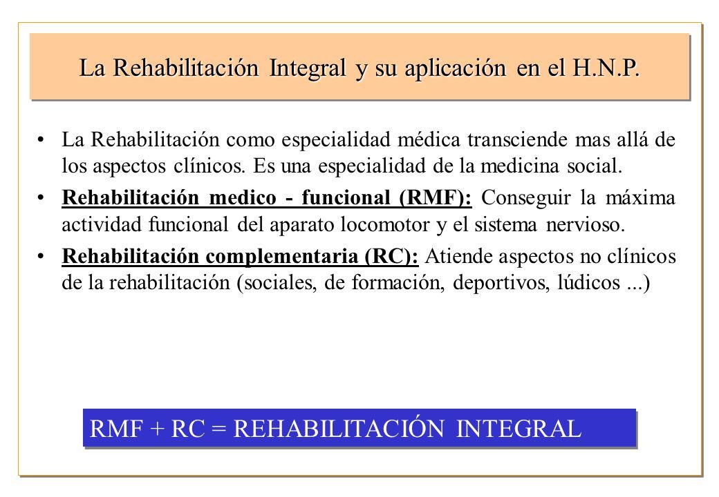 La Rehabilitación Integral y su aplicación en el H.N.P.