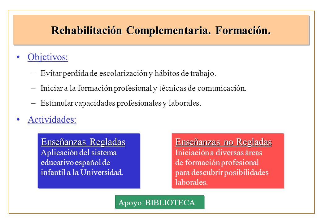 Rehabilitación Complementaria. Formación.