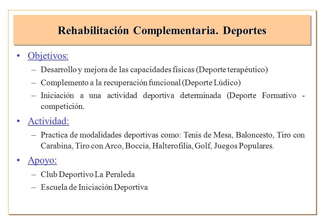 Rehabilitación Complementaria. Deportes