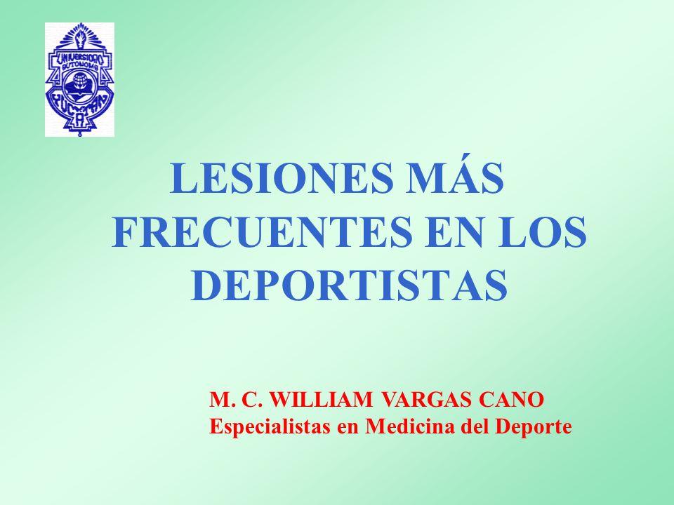LESIONES MÁS FRECUENTES EN LOS DEPORTISTAS