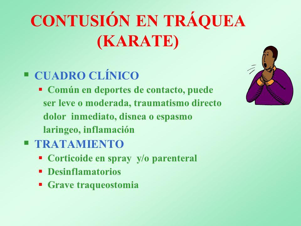 CONTUSIÓN EN TRÁQUEA (KARATE)
