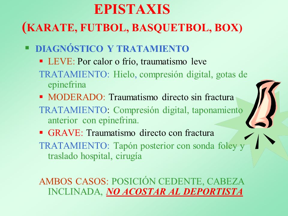 EPISTAXIS (KARATE, FUTBOL, BASQUETBOL, BOX)