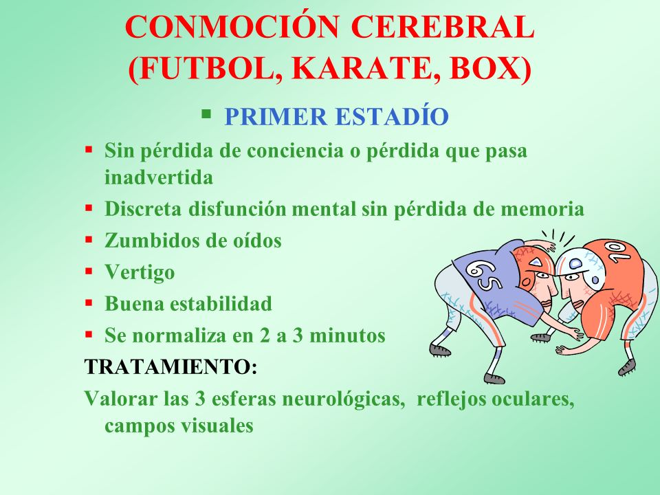 CONMOCIÓN CEREBRAL (FUTBOL, KARATE, BOX)