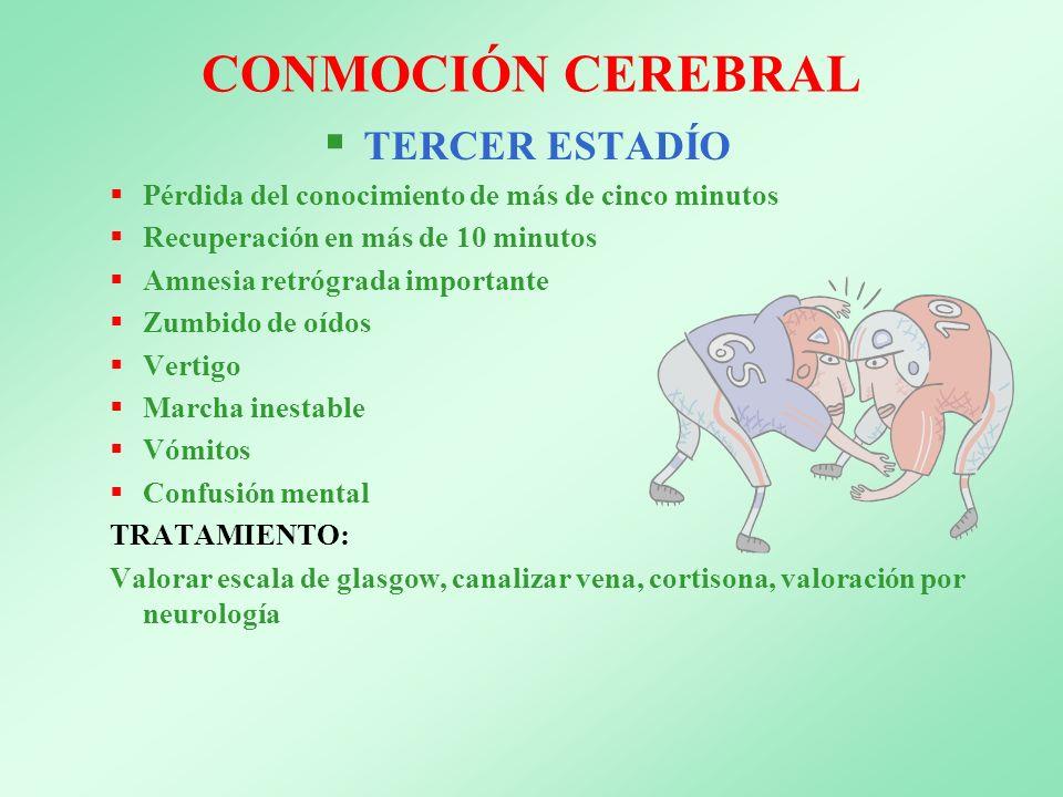 CONMOCIÓN CEREBRAL TERCER ESTADÍO