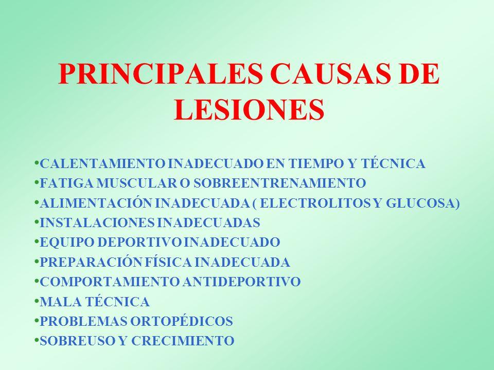 PRINCIPALES CAUSAS DE LESIONES