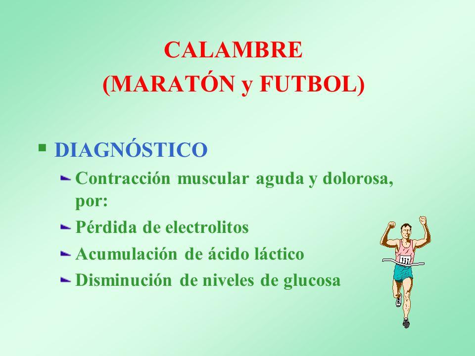 CALAMBRE (MARATÓN y FUTBOL)