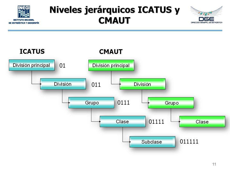 Niveles jerárquicos ICATUS y CMAUT