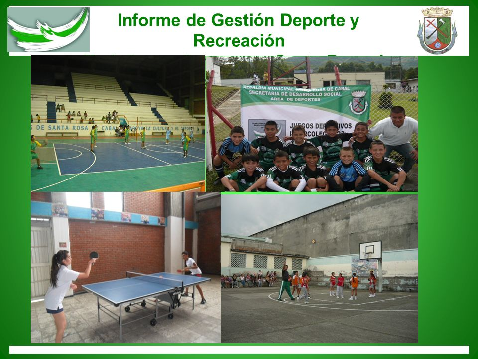 Informe de Gestión Deporte y Recreación