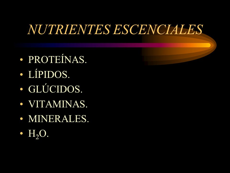 NUTRIENTES ESCENCIALES