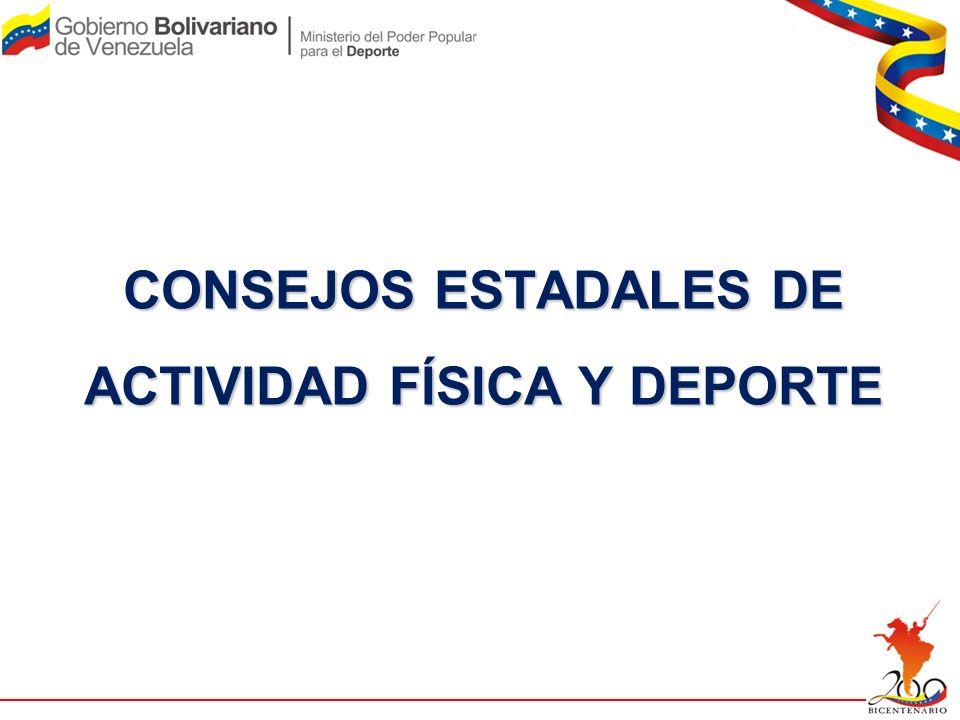 CONSEJOS ESTADALES DE ACTIVIDAD FÍSICA Y DEPORTE