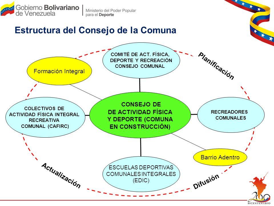 Estructura del Consejo de la Comuna