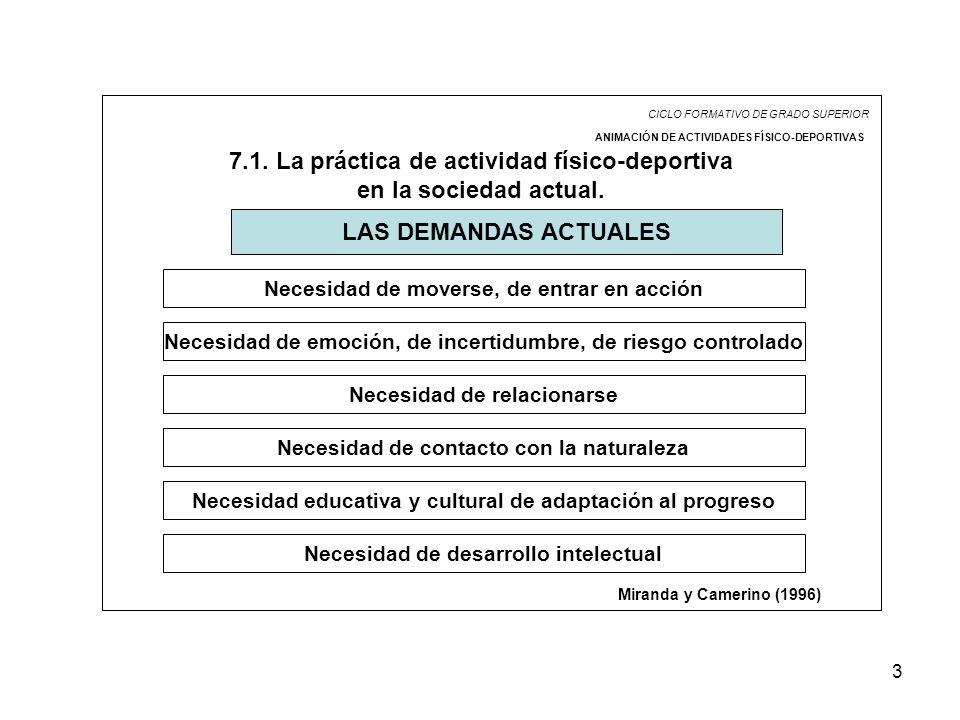 7.1. La práctica de actividad físico-deportiva en la sociedad actual.