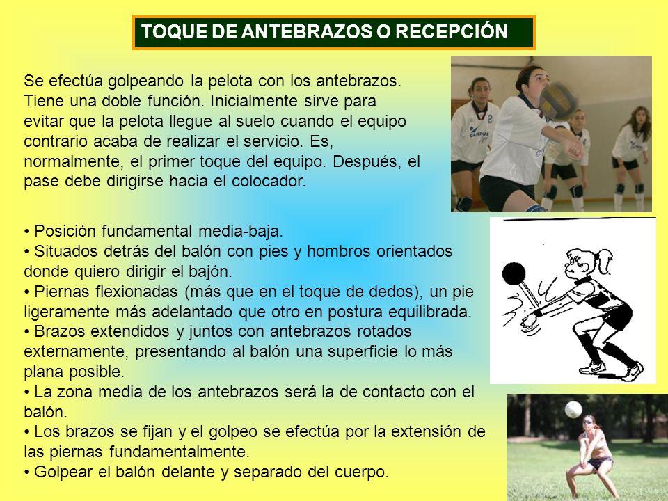 TOQUE DE ANTEBRAZOS O RECEPCIÓN