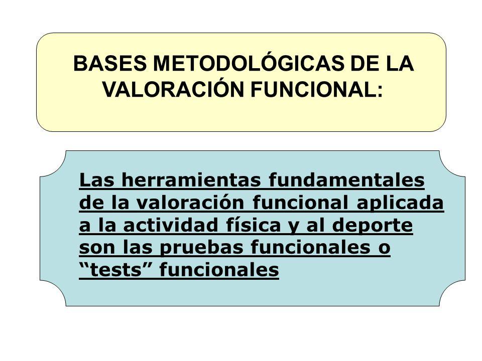 BASES METODOLÓGICAS DE LA VALORACIÓN FUNCIONAL:
