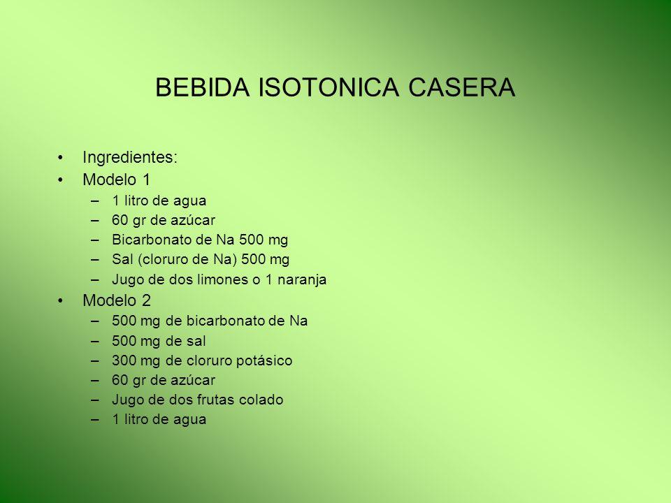 BEBIDA ISOTONICA CASERA