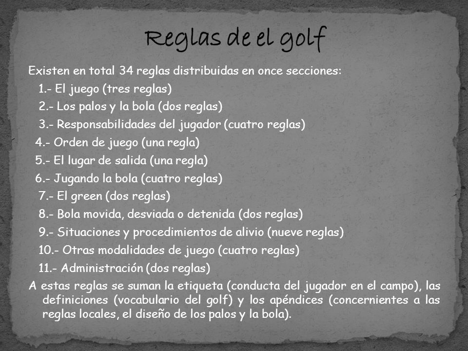 Reglas de el golf