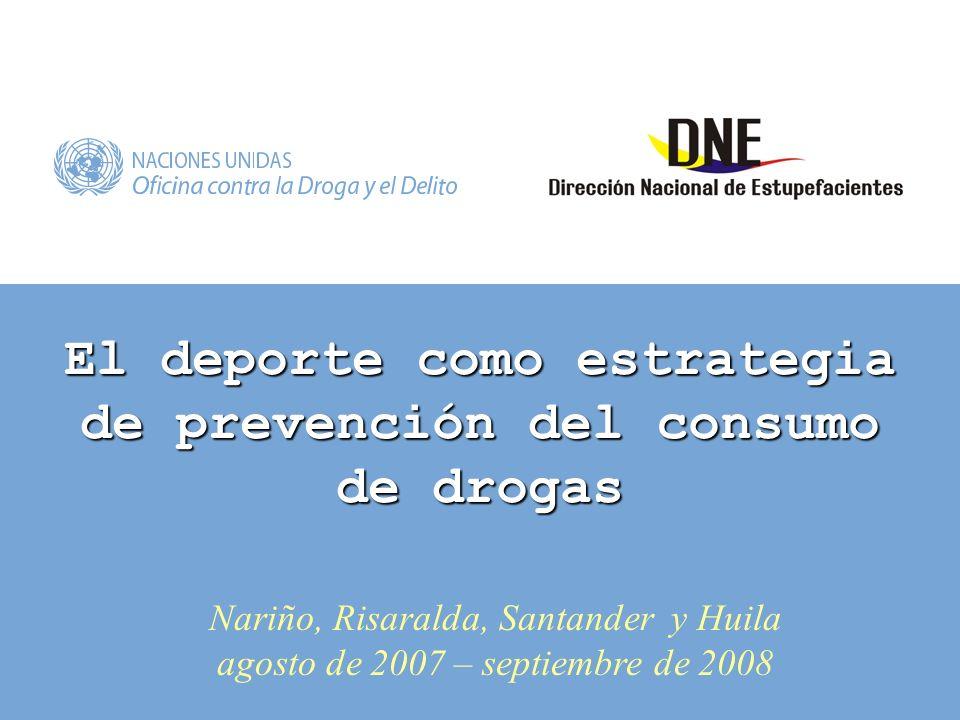 El deporte como estrategia de prevención del consumo de drogas