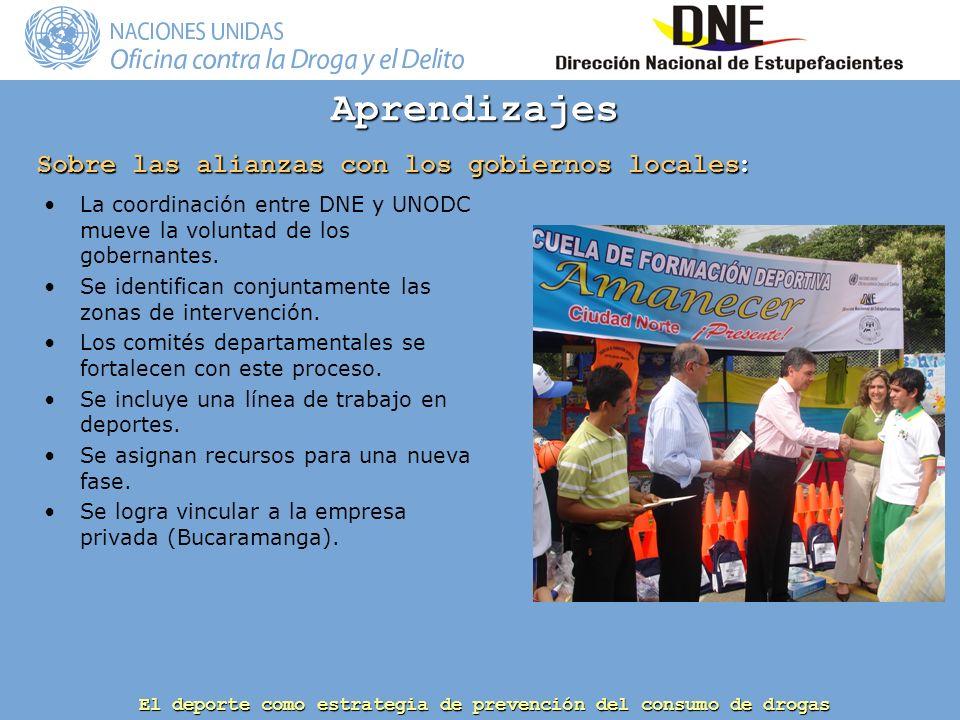 Sobre las alianzas con los gobiernos locales: