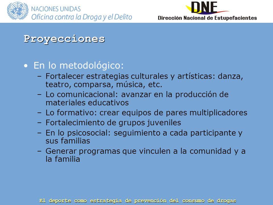 Proyecciones En lo metodológico: