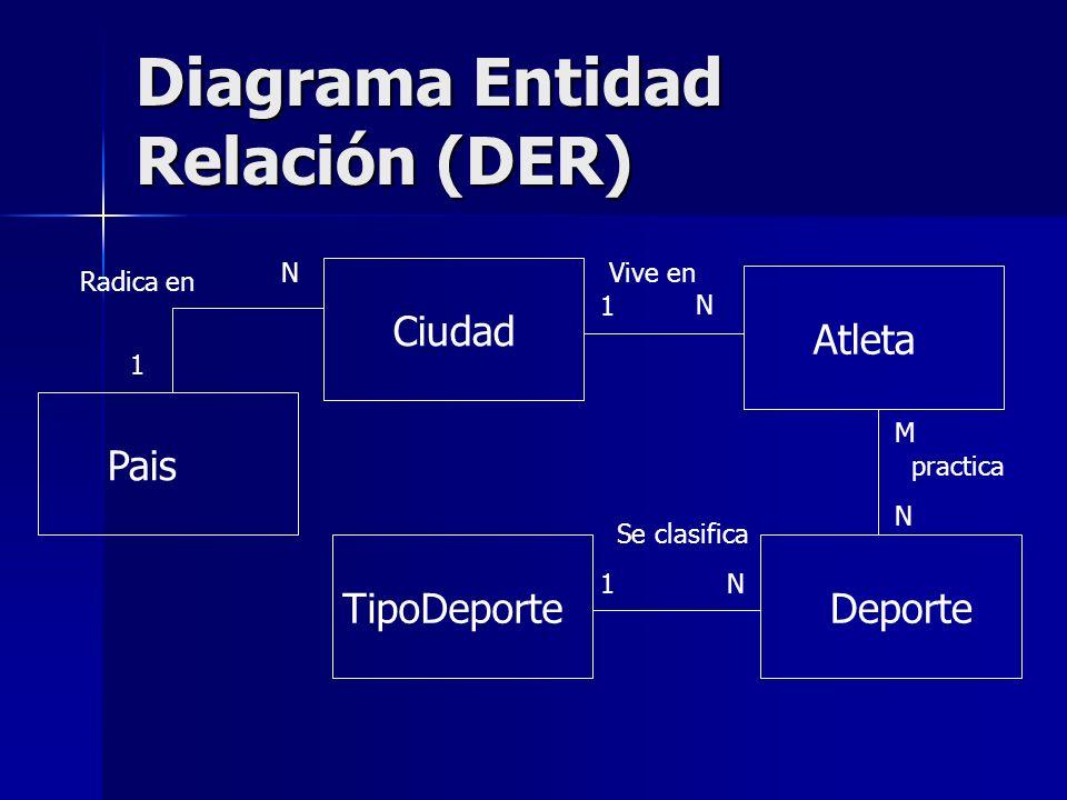 Diagrama Entidad Relación (DER)
