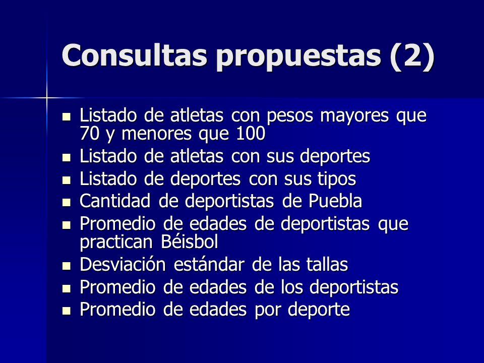 Consultas propuestas (2)