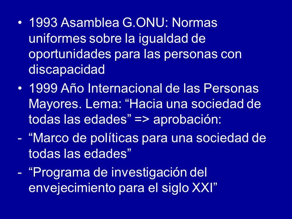 1993 Asamblea G.ONU: Normas uniformes sobre la igualdad de oportunidades para las personas con discapacidad