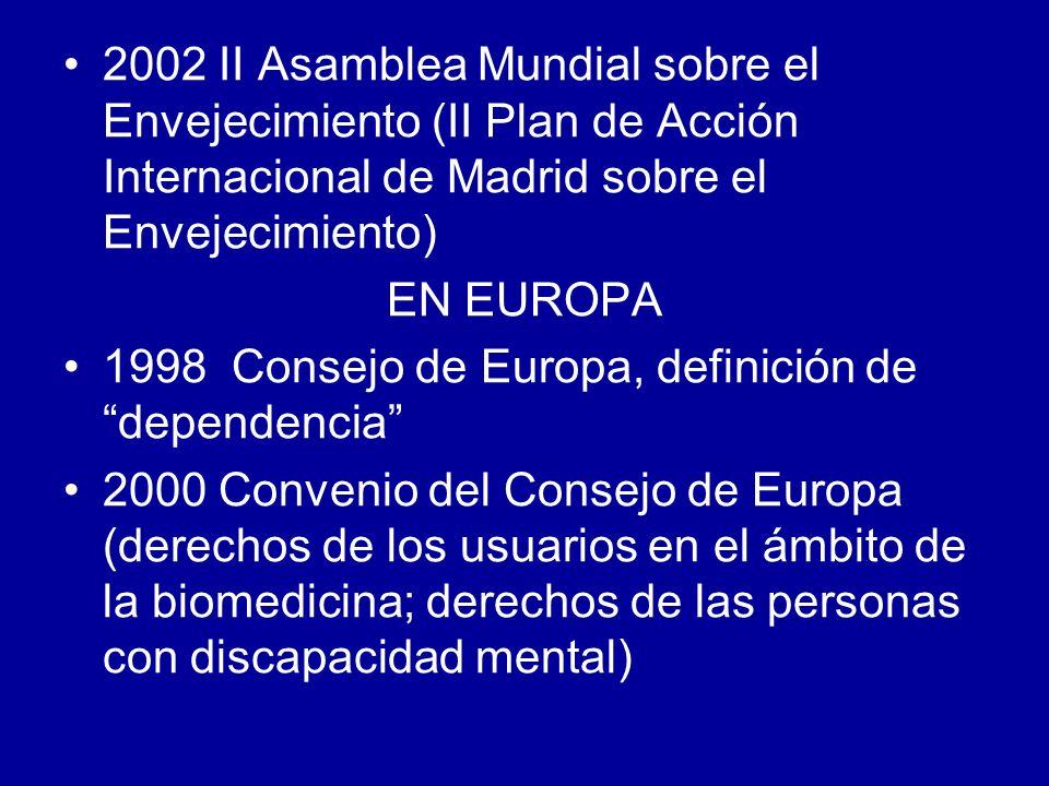 2002 II Asamblea Mundial sobre el Envejecimiento (II Plan de Acción Internacional de Madrid sobre el Envejecimiento)
