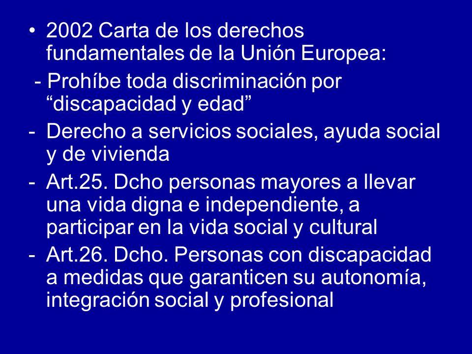2002 Carta de los derechos fundamentales de la Unión Europea: