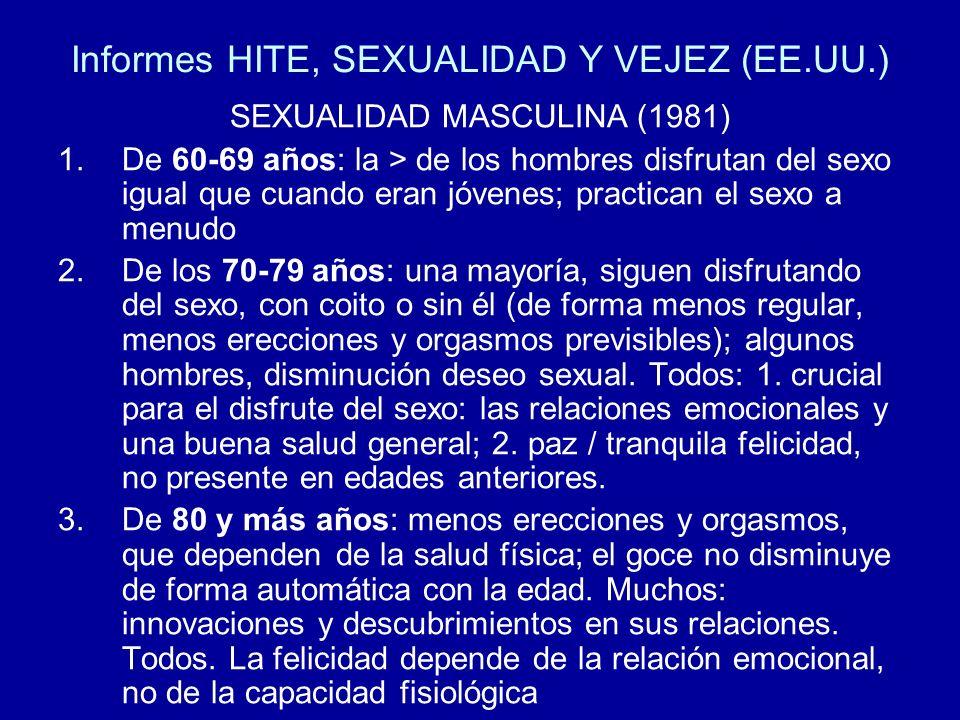 Informes HITE, SEXUALIDAD Y VEJEZ (EE.UU.)