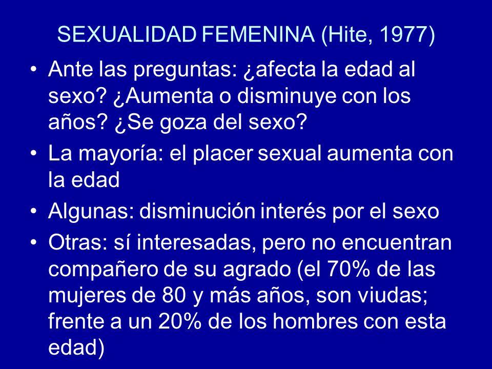 SEXUALIDAD FEMENINA (Hite, 1977)
