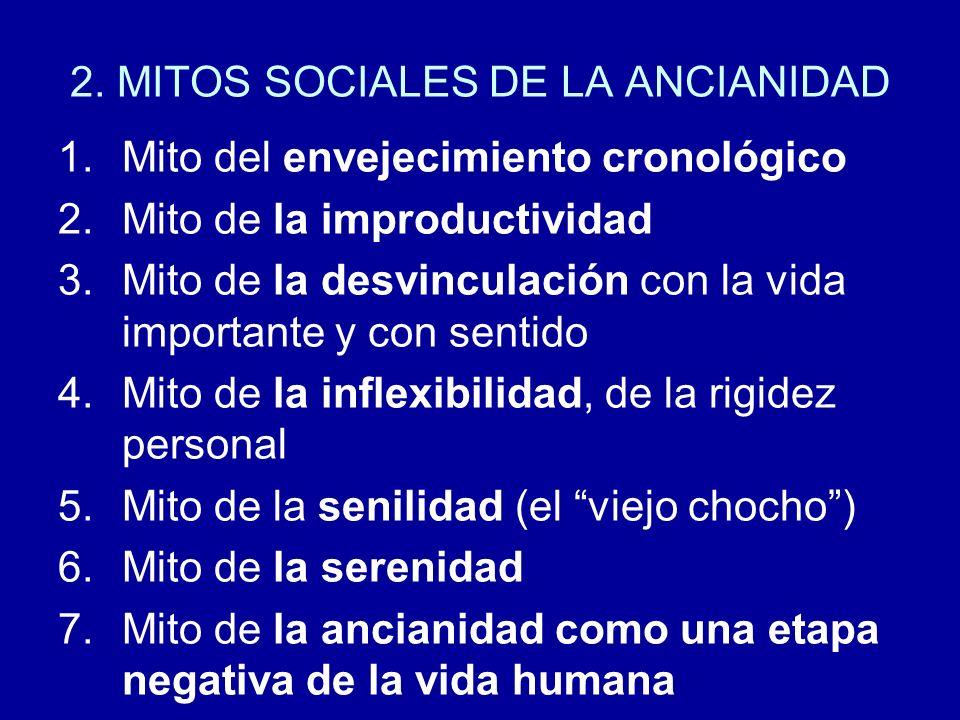 2. MITOS SOCIALES DE LA ANCIANIDAD