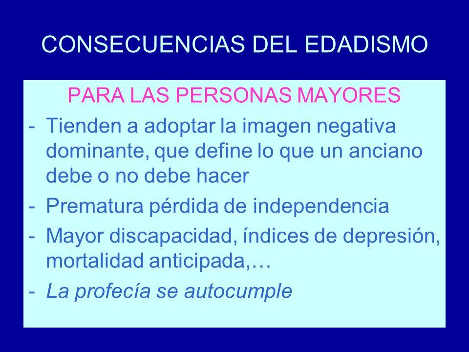 CONSECUENCIAS DEL EDADISMO
