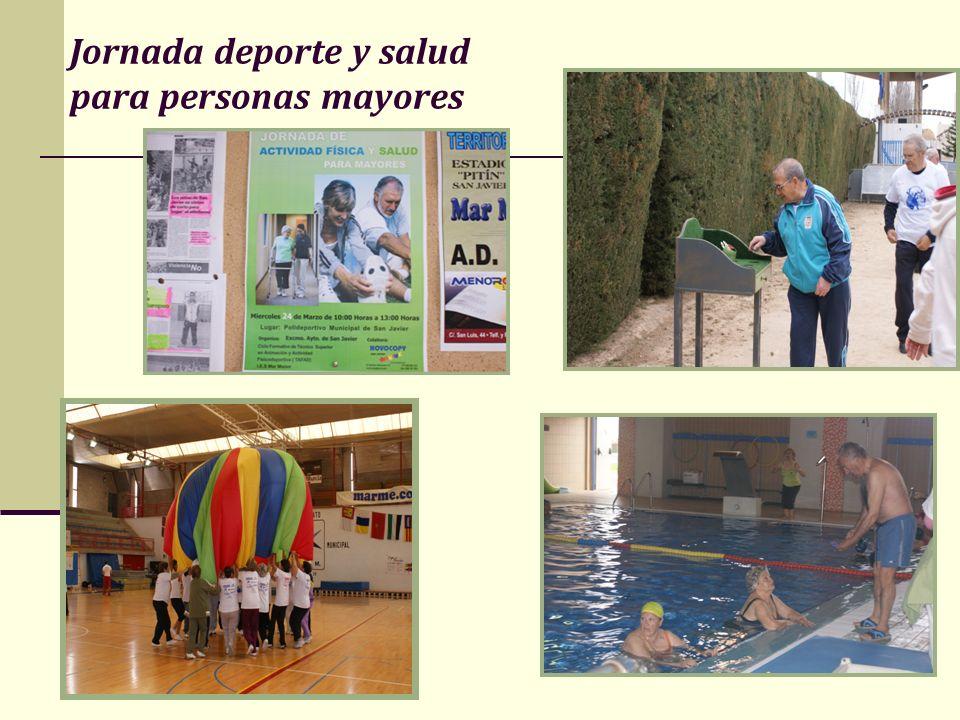 Jornada deporte y salud para personas mayores