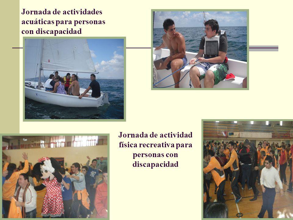 Jornada de actividades acuáticas para personas con discapacidad