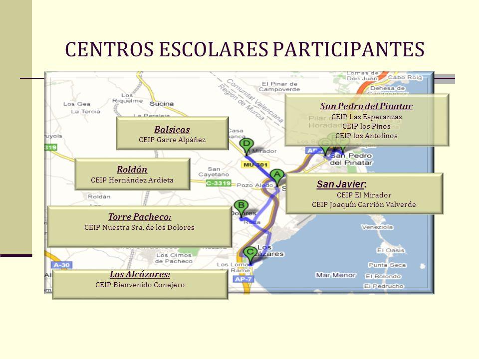 CENTROS ESCOLARES PARTICIPANTES