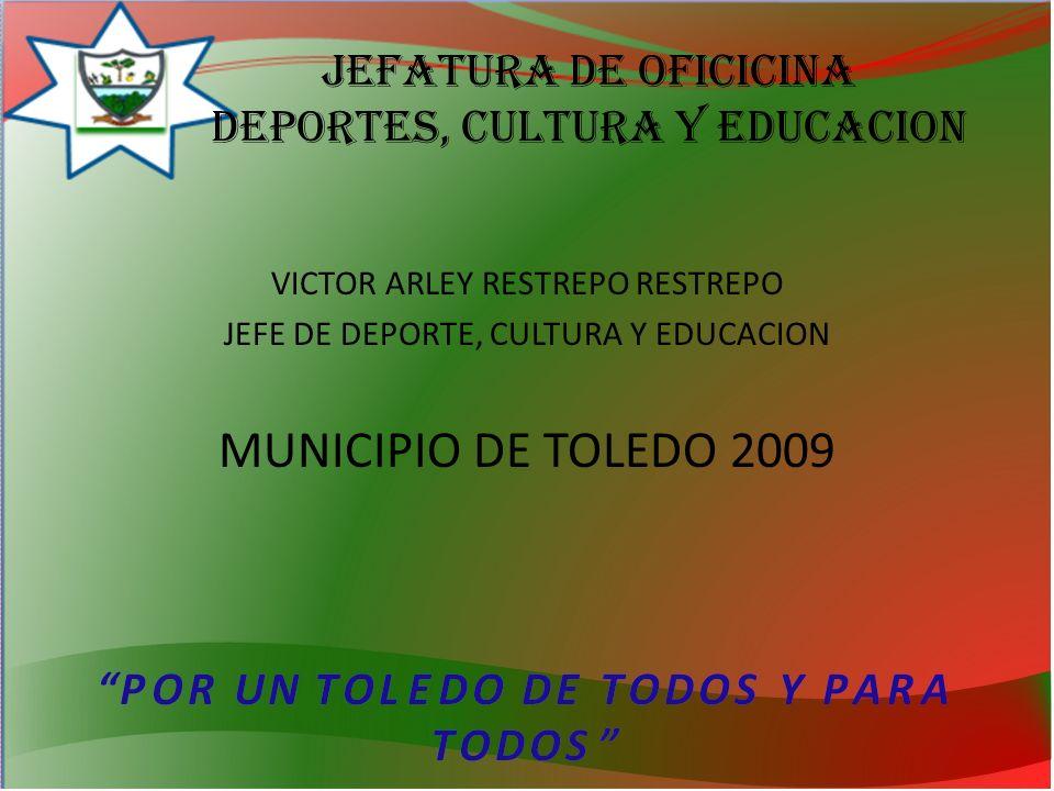 Jefatura de OFICICINA deportes, cultura y educacion