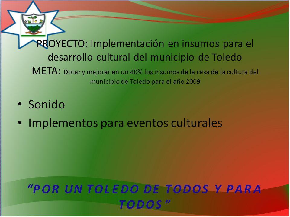 Implementos para eventos culturales