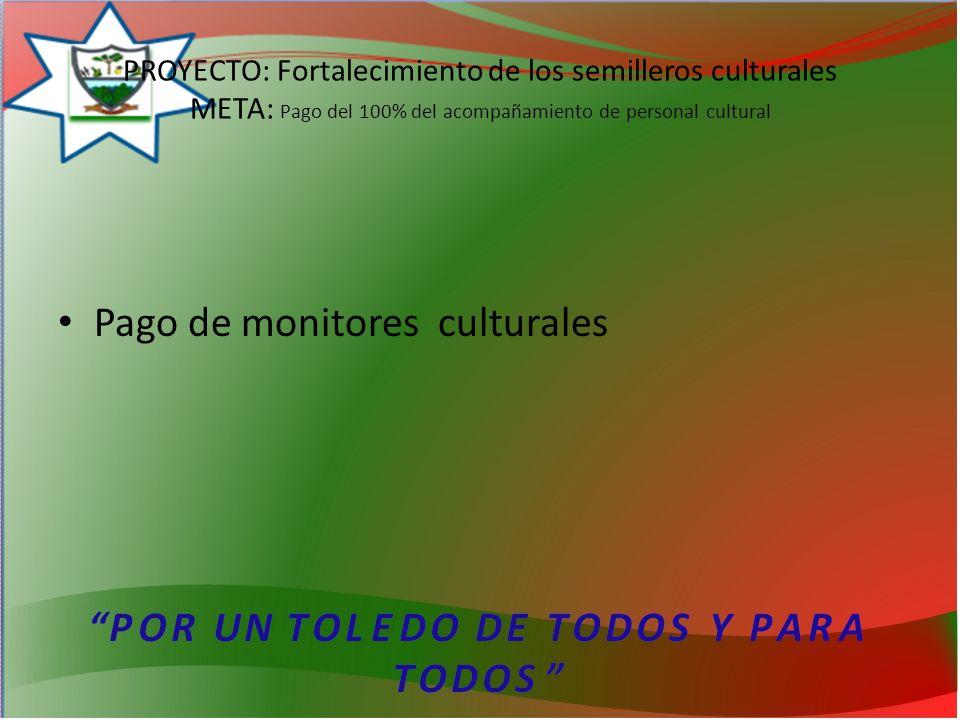 Pago de monitores culturales