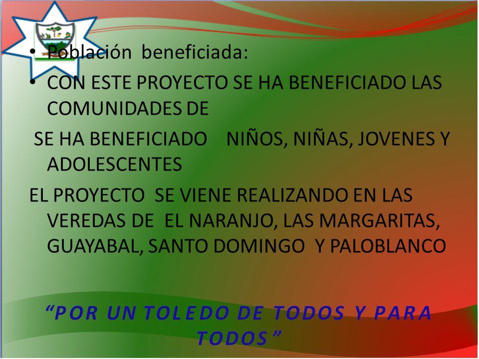 Población beneficiada: