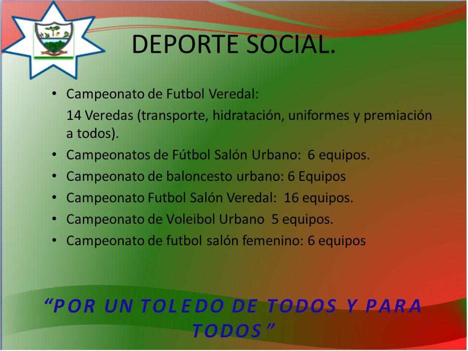 DEPORTE SOCIAL. Campeonato de Futbol Veredal: